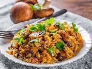 Рецепта Ризото с гъби и свинско месо